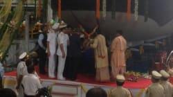 Indian Navy Undocks Indigenously-Built Attack Submarine In