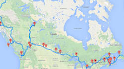 Voici le roadtrip canadien