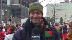 Vox pop: Guy Nantel interroge les étudiants lors d'une manifestation