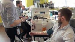 Trois-Rivières : 650 donneurs de plasma sont