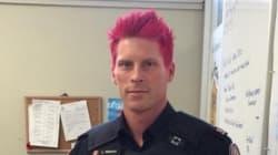 Un policier canadien se teint les cheveux en rose pour combattre