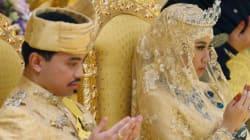 Nozze d'oro per il figlio del sultano: il bouquet è di
