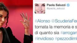 Paola Saluzzi sospesa da Sky per gli insulti via Twitter ad