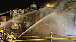Violent incendie d'une église à