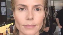 WATCH: Heidi Klum's Dramatic Makeup