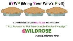 «Bring Your Wife's Pie» : L'affiche qui met un candidat albertain dans le