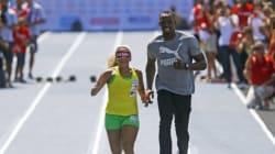 Usain Bolt, lazarillo de la atleta ciega más rápida del