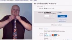Rob Ford vend «la cravate du crack» pour 1445