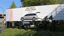 Vancouver 3D Billboard Showing One Child's Reality May Shock