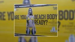 Londra unita contro lo slogan della modella perfetta in bikini: