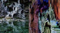 Des grottes et cascades hors du