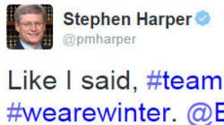 Harper's Hockey Tweet Among Most Popular From World