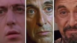 43 ans d'évolution du visage d'Al Pacino en 90