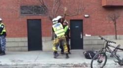 Une arrestation musclée du SPVM fait