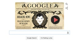 Google Doodle Pays Musical Tribute To America's First Female War Correspondent Nellie