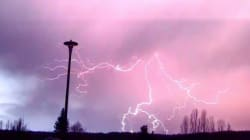 WATCH: Epic Lightning Storm Turns Prince George Sky