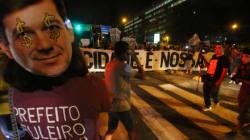 Ocupe Estelita protesta em frente à casa de prefeito do