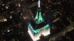 L'Empire State Building fa gli auguri ad