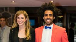 Gala Les Olivier 2015: Le look flamboyant d'Adib