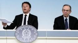 Primo braccio di ferro Renzi-Padoan sulle