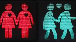 信号が「同性カップル」仕様に。ウィーンで手をつないで歩こう(画像集)