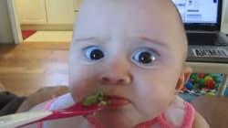 Non riuscirete a resistere a questa bambina che assaggia per la prima volta