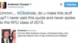 Anderson Cooper se fait avoir par un site