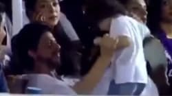 SRK Makes A Very Reluctant AbRam Dance To 'Ooh La La' At An IPL