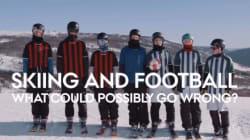 Le ski et le soccer mélangés dans un nouveau sport hybride de haute