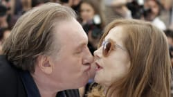 Gérard Depardieu tente d'embrasser Isabelle Huppert à Cannes