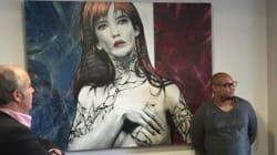 Un graff plutôt qu'un buste pour la Marianne de la mairie de