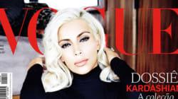 Kim Kardashian blonde en Une du Vogue