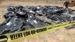 ISによる虐殺か 470人の遺体が掘り出される