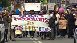 Manifestation contre la déportation