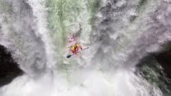正気の沙汰とは思えないカヤックの滝くだり 頭真っ白(動画)
