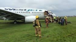 Aéroport Montréal-Trudeau: sortie de piste d'un Boeing 737