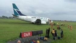 WestJet Plane Skids Off Runway At Montreal