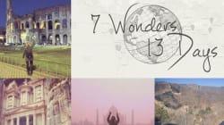Si ammala di cancro e visita le 7 meraviglie del mondo in 13