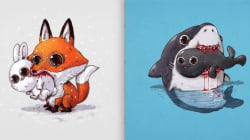 11 adoráveis ilustrações que mostram o lado sanguinário da