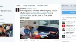 John Kerry tweete une photo de lui à l'hôpital 10 jours après s'être cassé le
