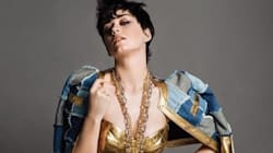 Katy Perry Goes For Gold In New Moschino