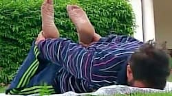 Union Minister's Yoga-At-Home Photos Become Hilarious Internet