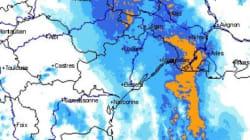 Orages dans le sud-est, début d'inondation à