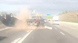 Vidéo d'un accident spectaculaire à