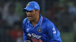 Uh-Oh. Skipper Dhoni Fined By Referee For Pushing Bangla