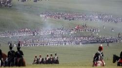 La reconstitution de la bataille de Waterloo en