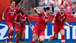 Soccer féminin: le Canada en quarts de