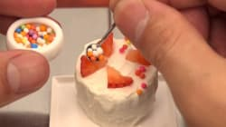 Comida en miniatura: un japonés cocina platos reales en tamaño