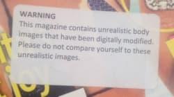 Photoshop: tous les magazines devraient avoir cet autocollant pour prévenir les