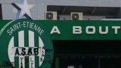 Le logo de la boutique des Verts tagué par des supporteurs